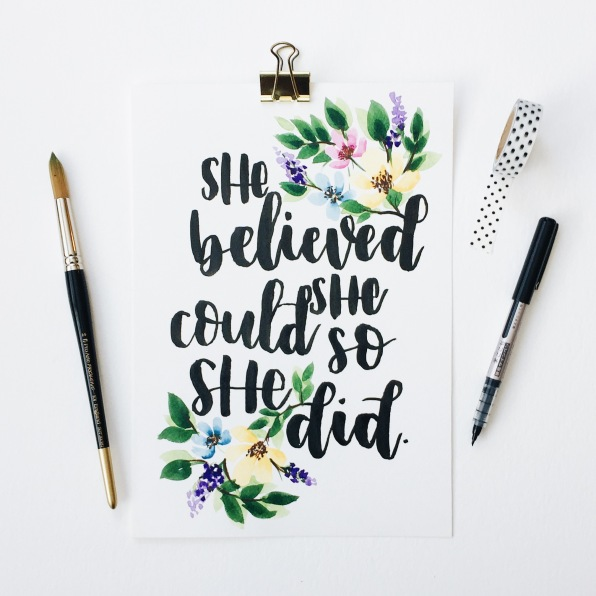 She Believed She Could, A4 Print £15 (Etsy)