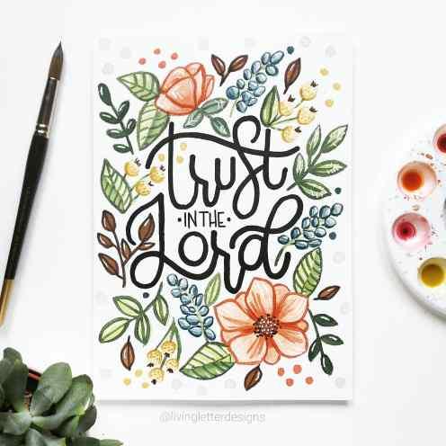 Trust in the Lord, A4 Original