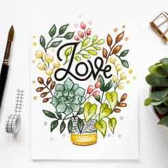 Grow in Love, A4 Original